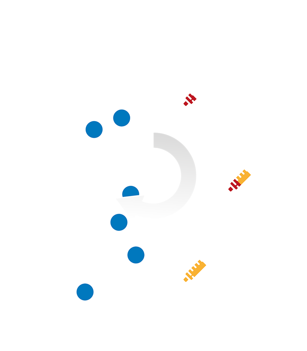 Davincis Zeichnung mit ACP-Spritzen